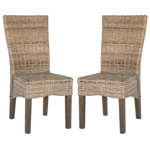 Safavieh Ozias Wicker Dining Chair 2-piece Set