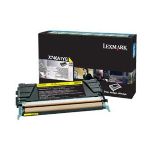 Lexmark Yellow Original Toner Cartridge - LCCP, LRP, 7000 Page Yield, For X746de, 748de, 748dte Printers - X746A1YG