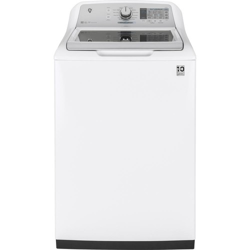 GE 5.0 cu. ft. Smart High-Efficiency Top Load Washer with Wi-Fi in White, ENERGY STAR