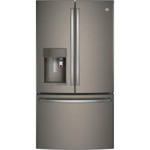 GE Profile 36 in. W 27.8 cu. ft. Smart French Door Refrigerator with Keurig in Slate, ENERGY STAR, Fingerprint Resistant