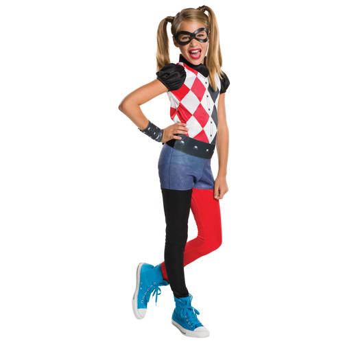DC Comics Harley Quinn Girls' Halloween Costume - Small