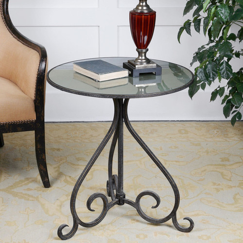 Uttermost Coffee, Console, Sofa & End Tables Uttermost Poloa Aged Bronze Accent Table