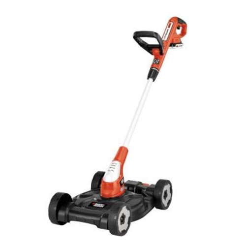 BLACK+DECKER 12 in. 20-Volt MAX Lithium-Ion Cordless 3-in-1 String Trimmer/Edger/Mower with (2) 2.0Ah Batteries and Charger Included