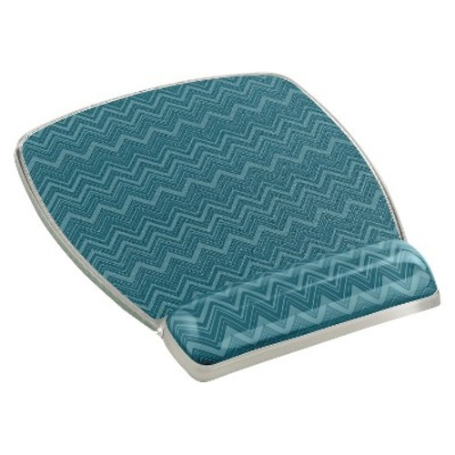 3M Precise Optical Mouse Pad with Gel Wrist MW308-GR Chevron - Mouse pad with wrist pillow - (MW308-GR)