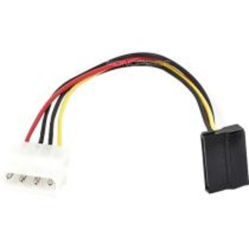 Monoprice - 8inch SATA 15pin Female to Molex 4pin Male Power Adapter (90 Degree)