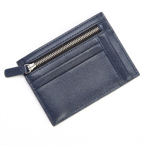 Royce Leather RFID Blocking Slim Card Case Wallet in Saffiano Leather