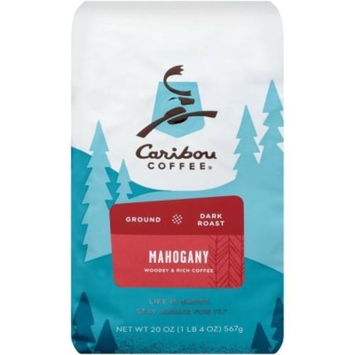 Caribou Coffee Mahogany Dark Roast Ground Coffee, 20 oz