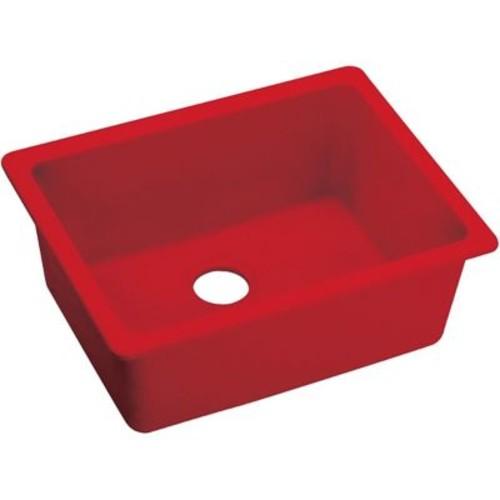 Elkay Quartz Luxe 25'' x 18.5'' Single Bowl Dual Mount Kitchen Sink; Maraschino