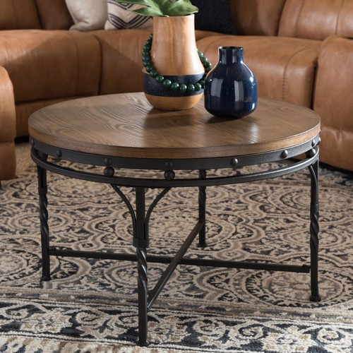 Baxton Studio Austin Medium Brown Wood Finished Coffee Table