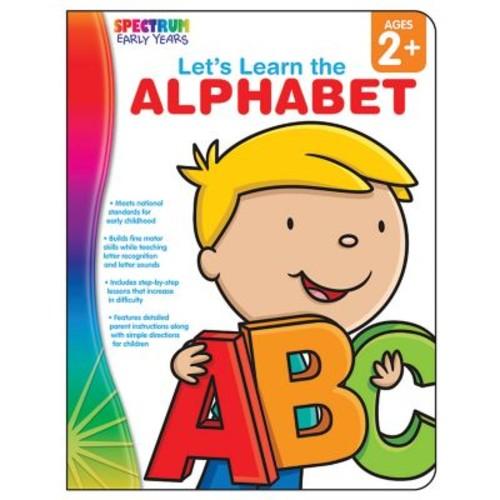 Carson Dellosa Spectrum Early Years Let's Learn the Alphabet Workbook, Grades PreK