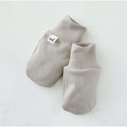 Cozy Cotton Organic Grey Baby Mittens