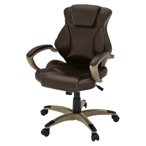 Z-Line Bonded Leather Executive Chair - Dark Brown