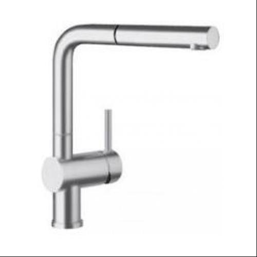 Blanco Linus Single-Handle Standard Kitchen Faucet in Satin Nickel