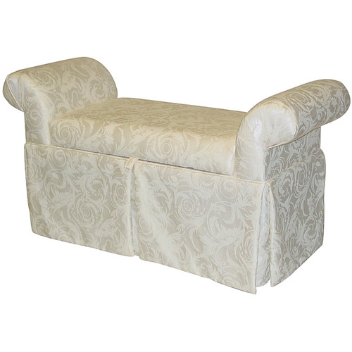 Made To Order Victoria Rollarm Damask Storage Bench
