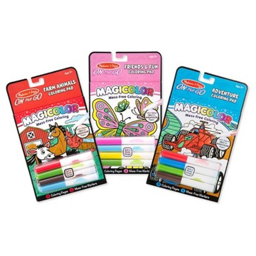 Farm, Games & Adventure and Friendship & Fun Magicolor Coloring Pad Bundle by Melissa & Doug