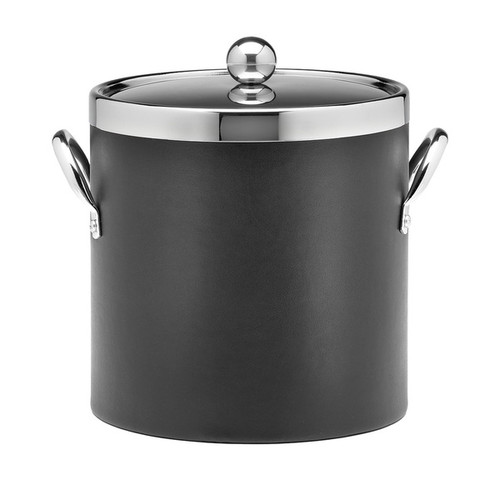 Contempo Chrome Lid, Top Ring, and Side Handles 3-quart Ice Bucket
