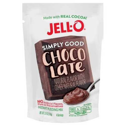 Jell- O Simply Good Choco Late Instant Pudding Mix - 3.4oz