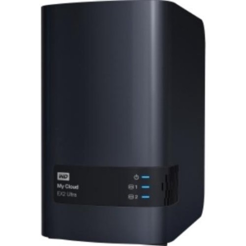 WD - My Cloud EX2 Ultra 12TB 2-Bay External Network Storage (NAS) - Charcoal