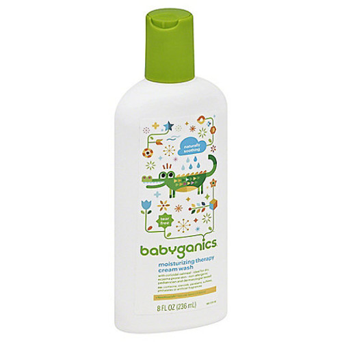 Babyganics 8 oz. Fragrance-Free Moisturizing Therapy Cream Wash