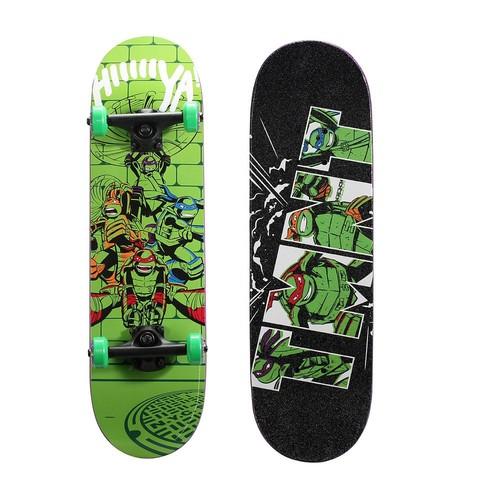 Playwheels Teenage Mutant Ninja Turtles 28 in. Complete Skateboard in Lime Time Graphic
