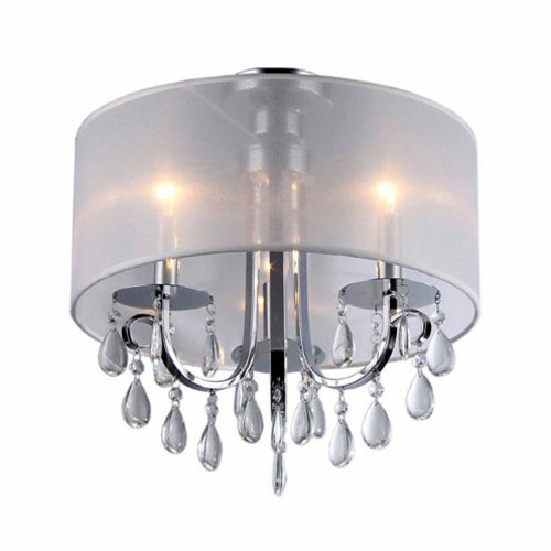 Warehouse Of Tiffany Muses Crystal 16 inch Chrome Chandelier JCPenney