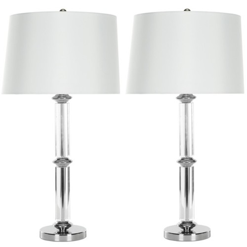 Safavieh Indoor 1-light Cylinder Glass Table Lamps (Set of 2)