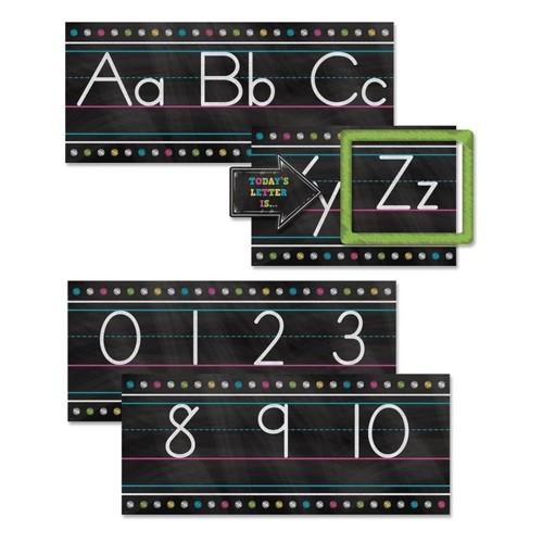 Teacher Created Resources Chalkboard Brights Alphabet Line Bulletin Board Set, Multicolor, Pre-K - Grade 8
