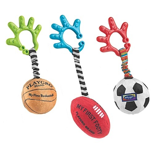 Playgro 3-Piece Sports Balls Activity Toy Set