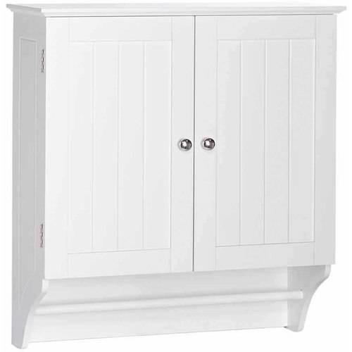RiverRidge Home Ashland 22-4/5 in W x 25-2/5 in. H x 8-43/50 in. D 2-Door Bathroom Storage Wall Cabinet in White
