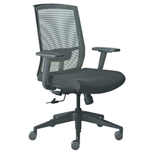 Mayline Gist Task Chair, Black/Silver