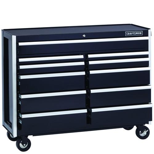 Craftsman EDGE Series 52-In. 11-Drawer Premium Heavy-Duty Ball-Bearing Rolling Cart - Black
