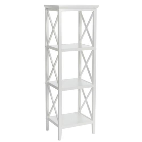 RiverRIdge X-Frame Bathroom Towel Tower, White Finish