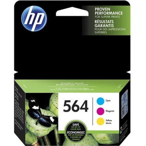 HP 564 Cyan/Magenta/Yellow Original Ink Cartridge, 3 Pack