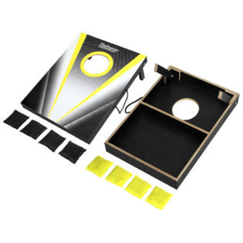 Hathaway Hathaway Compact Cornhole Bean Bag Toss Game Set - Black