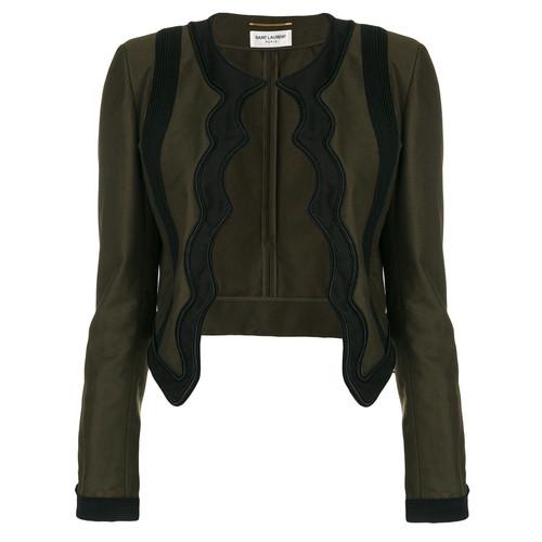 SAINT LAURENT Braided Scallop Jacket