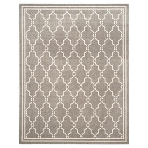 Safavieh Amherst Collection AMT414R Dark Grey and Beige Indoor/ Outdoor Area Rug