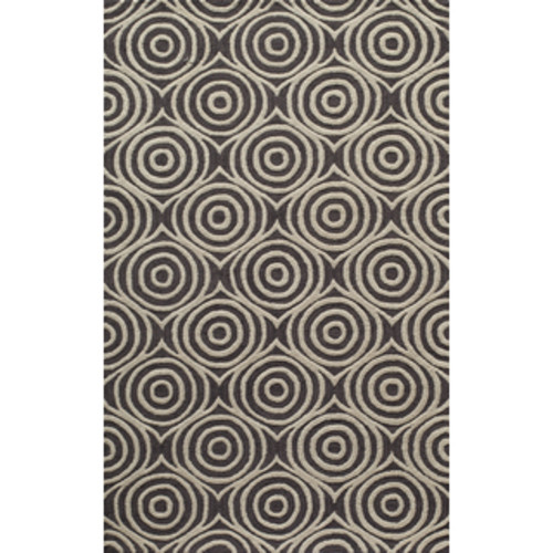 Indoor/Outdoor Laguna Grey Medallions Flat-Weave Rug (2' x 3')