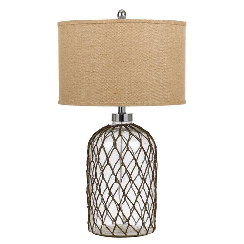 CAL Lighting 27.5 in. Roped Glass Table Lamp