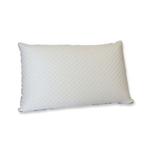 Reverie Cool Down and Feather Pillow with Memory Foam Cover in White