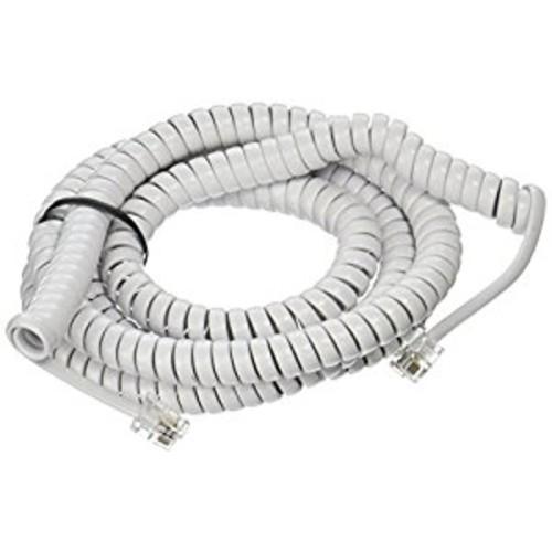 Power Gear Telephone Coil Cord, 25 Feet, White, 76122