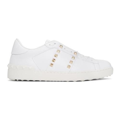 VALENTINO White  Garavani 'Rockstud Untitled' 11 Open Sneakers