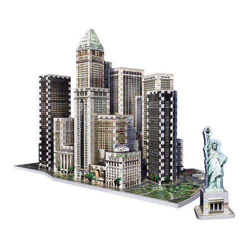 Wrebbit Puzzles 2013 Financial District New York 3D Puzzle