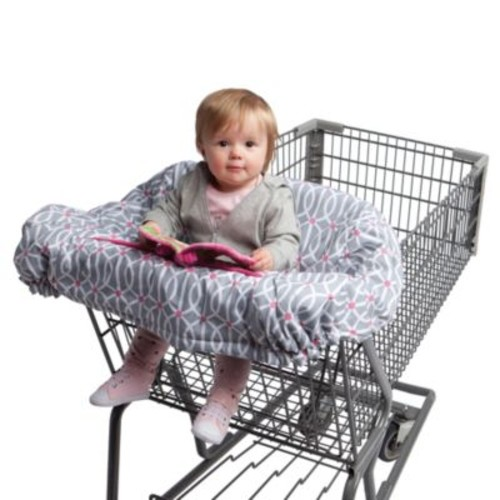 Boppy Shopping Cart Cover in Park Gate Grey