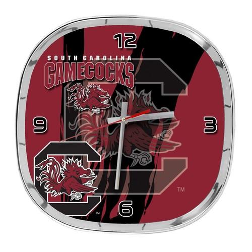 NCAA Chrome Wall Clock - University of South Carolina Gamecocks