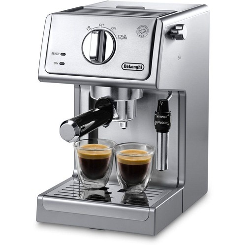 DeLonghi 15-Bar Pump Espresso and Cappuccino Machine in Stainless Steel