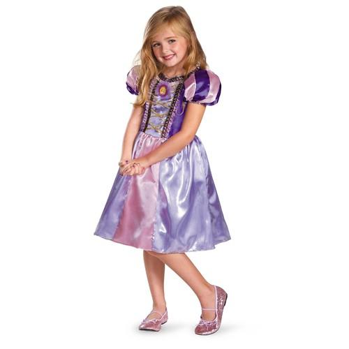 Disney Tangled Rapunzel Sparkle Girls Halloween Costume