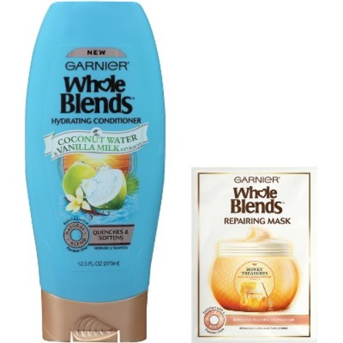 Garnier Whole Blends Hydrating Hair Conditioner & Repairing Mask - 12.5 fl oz