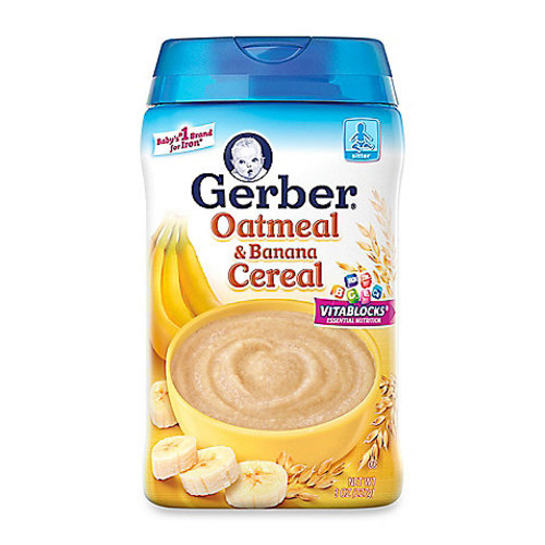 Gerber 8 oz. Oatmeal and Banana Cereal