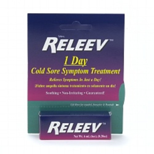 Releev 1 Day Cold Sore Symptom Treatment