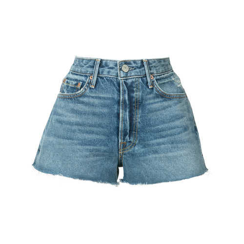 GRLFRND Frayed Mini Denim Shorts